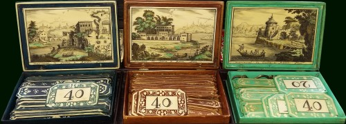 Louis XV set of six counter boxes - Objects of Vertu Style Louis XV