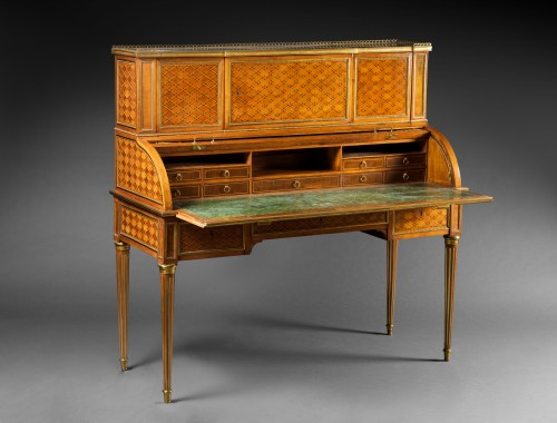 An important Louis XVI rolltop desk attributed to Weisweiler - Furniture Style Louis XVI