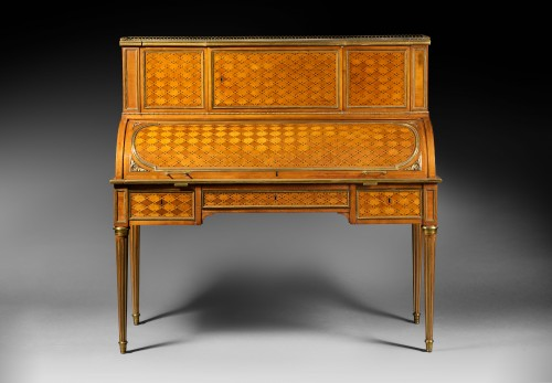 Furniture  - An important Louis XVI rolltop desk attributed to Weisweiler