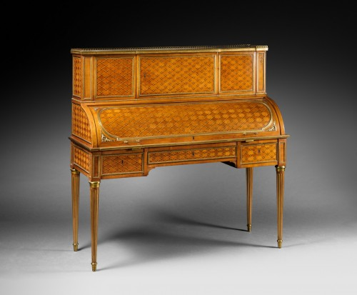 An important Louis XVI rolltop desk attributed to Weisweiler -