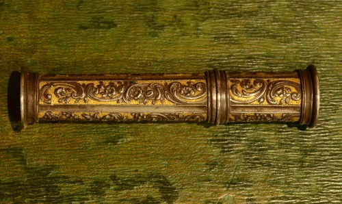 A Louis XV iron sealing-wax case -