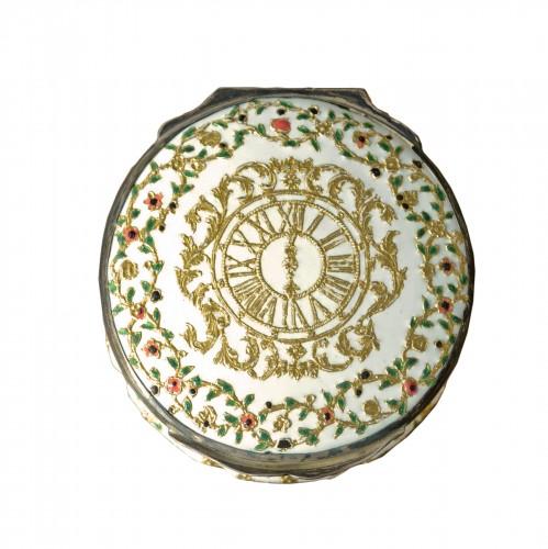 A Louis XV enamel snuff box
