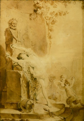 Bacchanale, attribuée à Jacques-Philippe Caresme