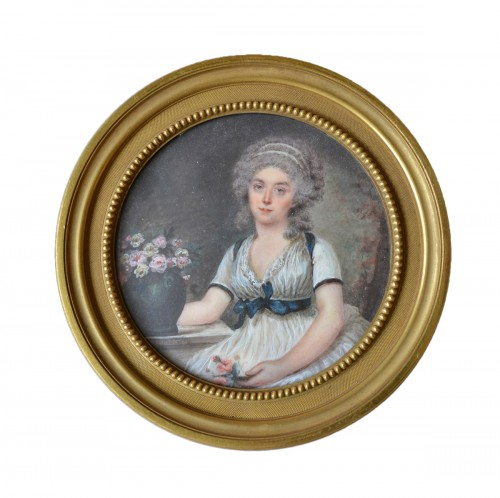 Miniature representing a lady - Motelay