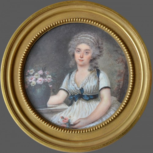 Miniature representing a lady - Motelay - Objects of Vertu Style