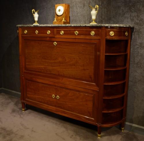Large Louis XVI mahogany secrétaire - Furniture Style Louis XVI