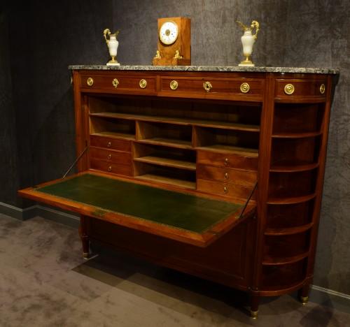 Furniture  - Large Louis XVI mahogany secrétaire