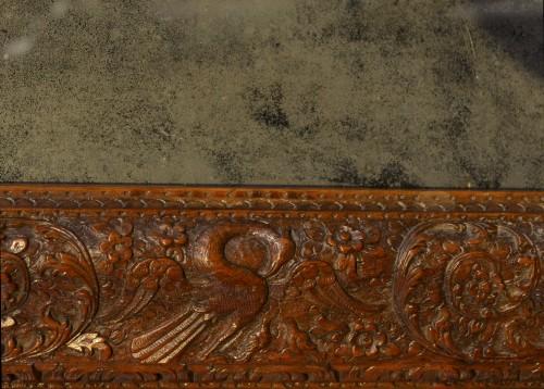 Louis XIV frame in Bagard wood, mounted in mirror - Mirrors, Trumeau Style Louis XIV