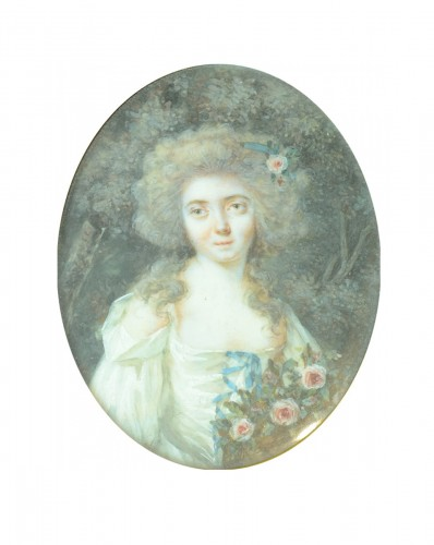 Miniature of a young woman, attributed to Périn Salbreux