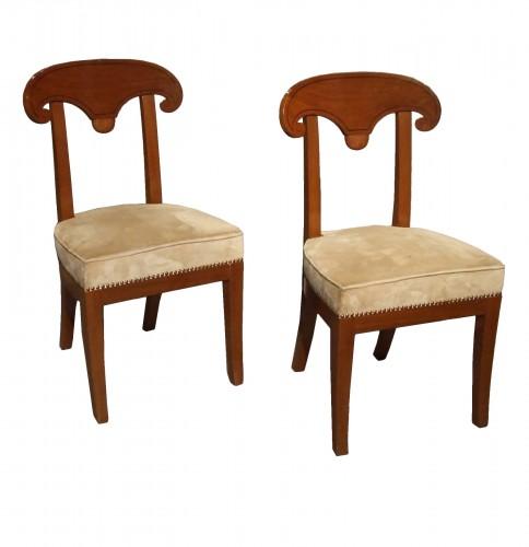 A Pair of Consulat mahogany chairs