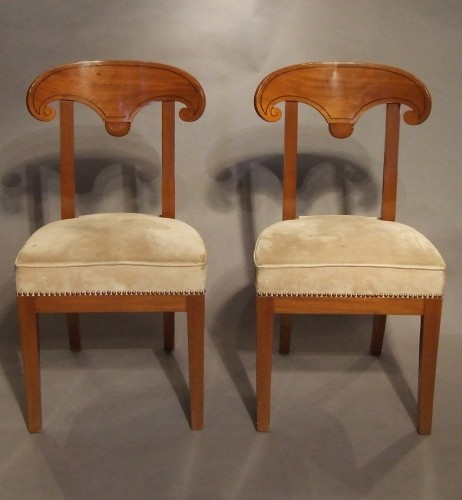 A Pair of Consulat mahogany chairs - Seating Style Directoire