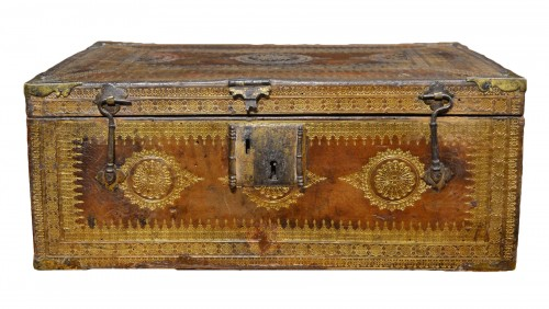 A Louis XIII gilt-tooled morocco leather box