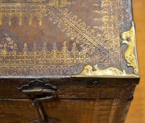 Objects of Vertu  - A Louis XIII gilt-tooled morocco leather box
