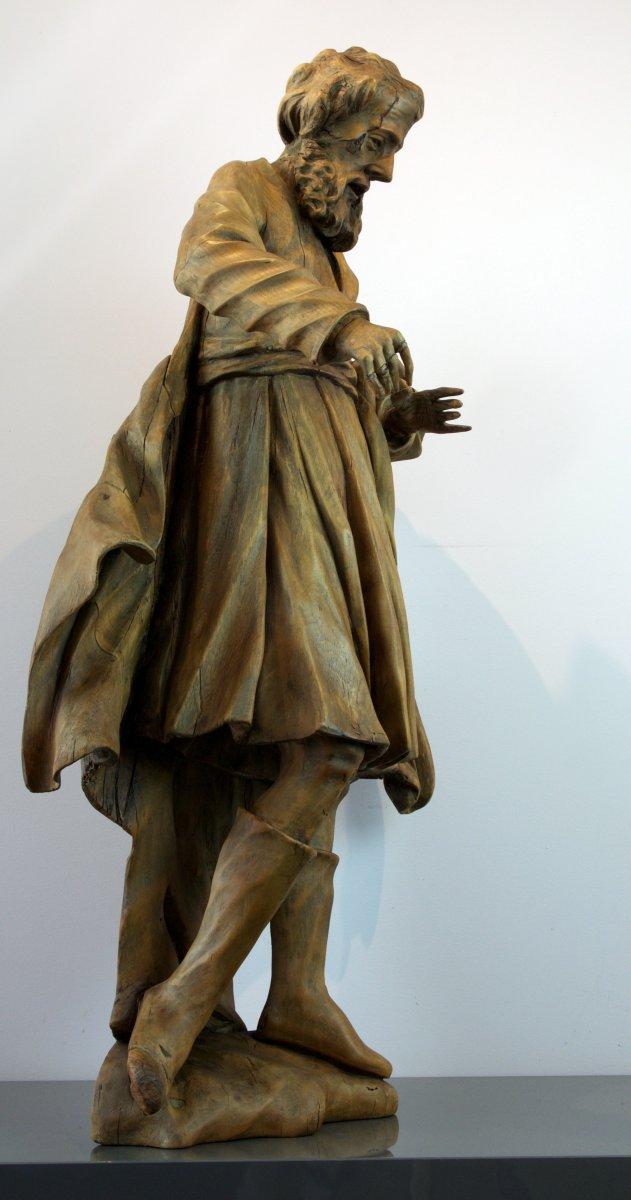18th Century Baroque Sculpture Saint James The Greater