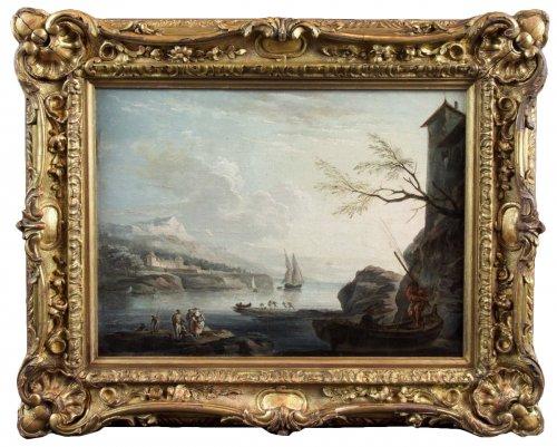 Marine Méditerranéenne -  18th century, School of Claude Joseph Vernet
