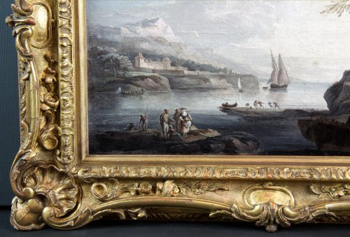Marine Méditerranéenne -  18th century, School of Claude Joseph Vernet - Paintings & Drawings Style Louis XV
