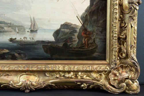 Paintings & Drawings  - Marine Méditerranéenne -  18th century, School of Claude Joseph Vernet