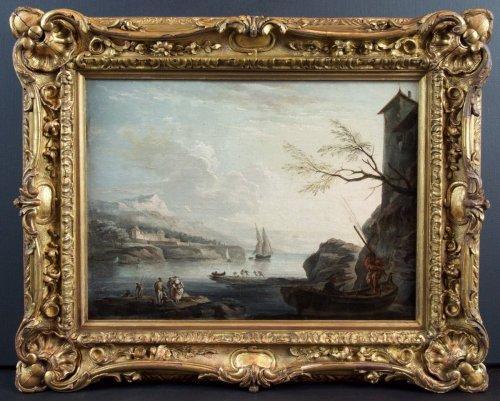 Marine Méditerranéenne -  18th century, School of Claude Joseph Vernet -