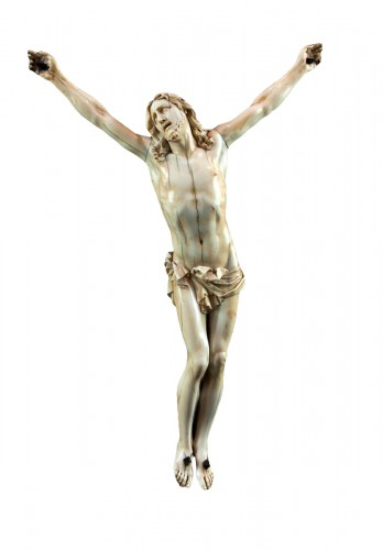 "Christ ""vivo"" carved ivory, France 17th century"