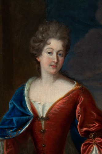 Portrait of the Princess of Conti - Attributed to François de Troy and his workshop - Paintings & Drawings Style Louis XIV