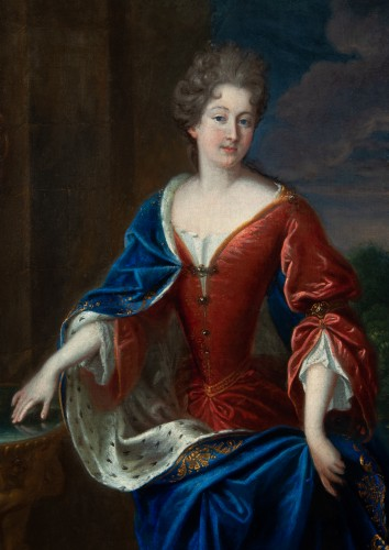 Paintings & Drawings  - Portrait of the Princess of Conti - Attributed to François de Troy and his workshop