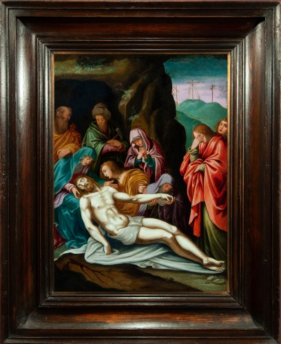The Lamentation of Christ - Italian School of the 17th Century - Paintings & Drawings Style Louis XIII