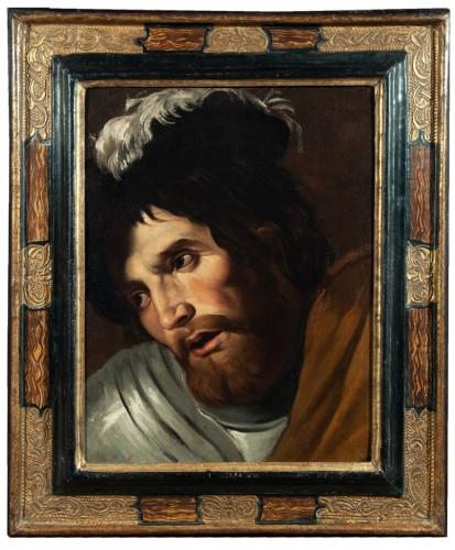 Head of Swordsman - Nordic Caravaggio School of the 17th century