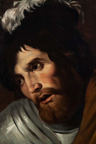 Head of Swordsman - Nordic Caravaggio School of the 17th century - Paintings & Drawings Style Louis XIII