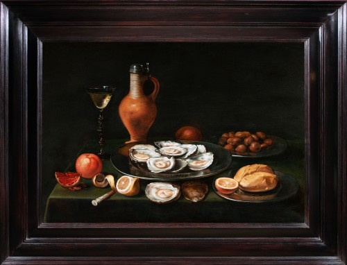Nature morte aux huîtres - Attribuée à Jacob Foppens van Es (1596-1666)