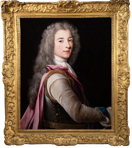 Portrait of a young aristocrat in armor - French School of the 17th century