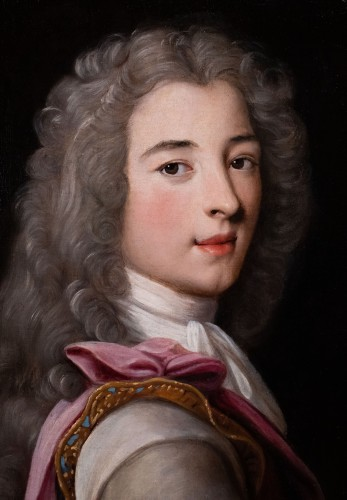 Portrait of a young aristocrat in armor - French School of the 17th century - Paintings & Drawings Style Louis XV