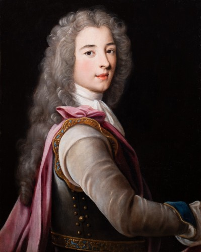 Paintings & Drawings  - Portrait of a young aristocrat in armor - French School of the 17th century