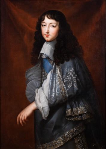 """Paintings & Drawings  - Portrait of Philippe d'Orléans known as """"Monsieur"""". Jean Nocret & workshop (1615-1672)"""