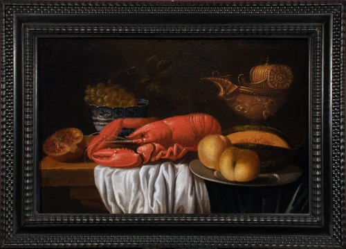 Still life with lobster and piece of silverware - Workshop of Joris van Son (1623-1667)