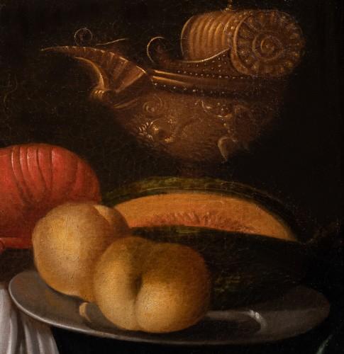 Still life with lobster and piece of silverware - Workshop of Joris van Son (1623-1667) - Paintings & Drawings Style