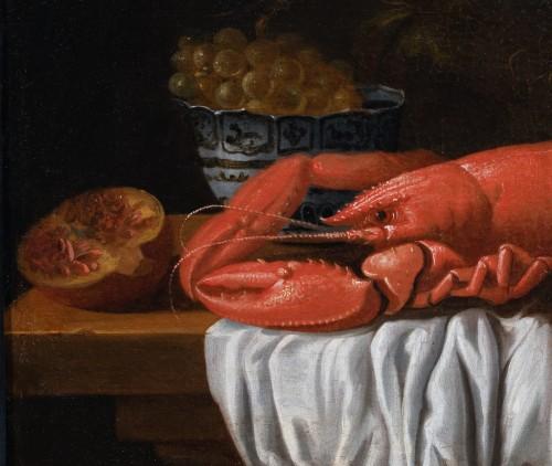 Paintings & Drawings  - Still life with lobster and piece of silverware - Workshop of Joris van Son (1623-1667)