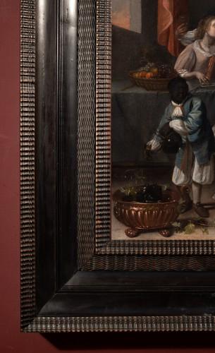 The galant meeting - Workshop of Caspar Netscher (1639-1684) -