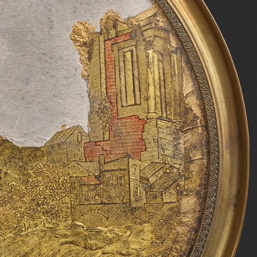 Medallion in Compigné representing a harvest scene - Paintings & Drawings Style