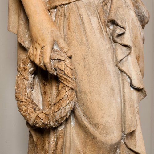 Sculpture  - Terracotta statue of a draped woman signed  BRAULT