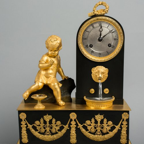 Bronze mantel clock, 19th century - Clocks Style Restauration - Charles X