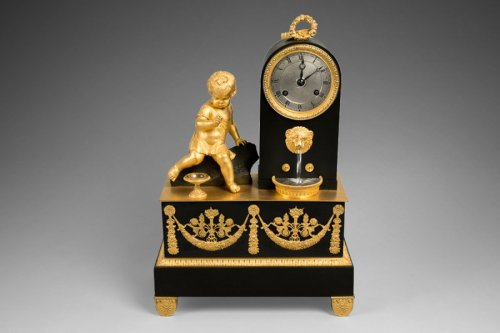 19th century - Bronze mantel clock, 19th century
