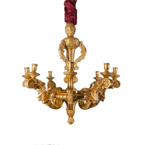 Late 19th century giltwood chandelier