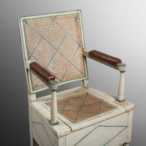 "Seating  - A late XVIIIth century ""Fauteuil percé"""