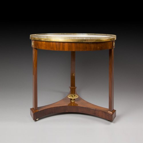 French mahogany and marble top Pedestal table