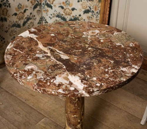 Furniture  - A late 18th century Red and white veined marble gueridon table