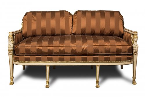 French white lacquered and parcel gilt Sofa, late 18th century
