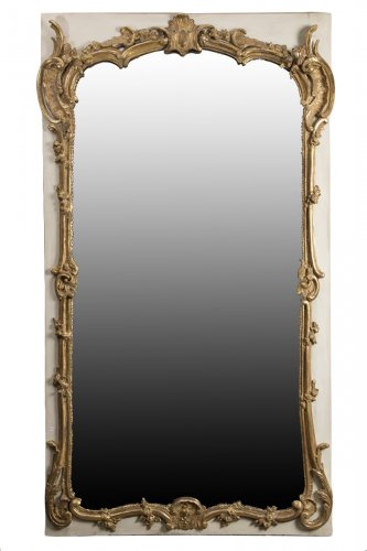French Louis XV Trumeau Mirror