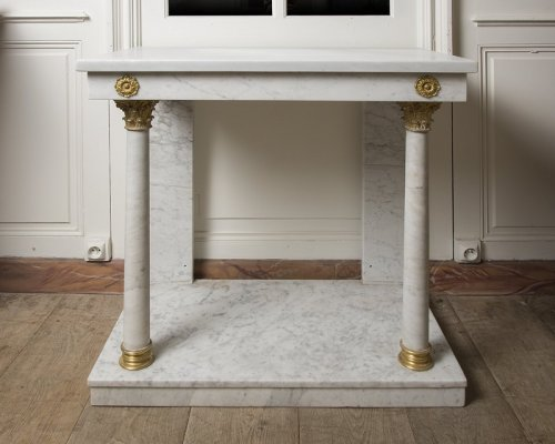 Furniture  - 19th century white marble console table