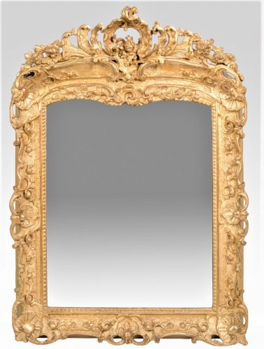 French Louis XV Giltwood mirror -