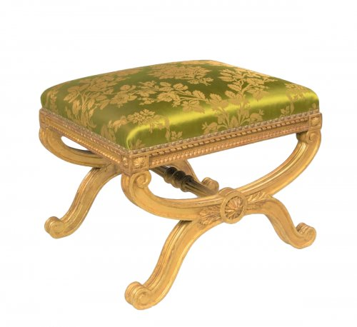 19th century giltwood stool